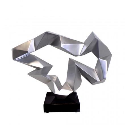 Statue decorative sculpture design pregnant Bluetooth ICE FLOW in resin (Silver)