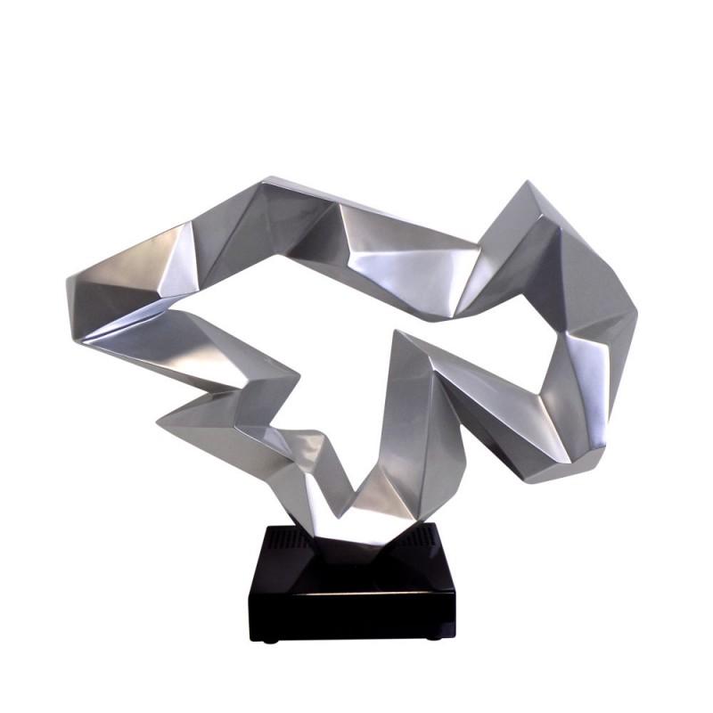 Statue sculpture décorative design enceinte Bluetooth ICE FLOW en résine (Argent) - image 43023