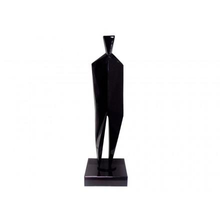 Diseño de escultura decorativa de la estatua embarazada Bluetooth HUMAN BODY en resina (Negro)