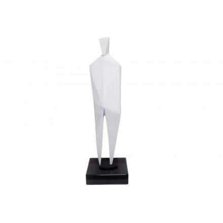Diseño de escultura decorativa de la estatua embarazada Bluetooth HUMAN BODY en resina (blanco)