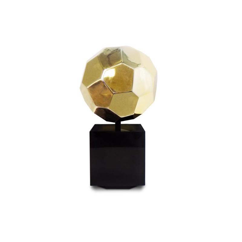 Diseño de escultura decorativa estatua embarazada Bluetooth BALLON en resina (oro)