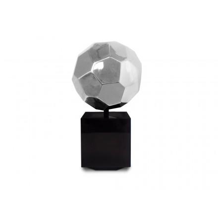 Statue decorative sculpture design pregnant Bluetooth BALLON in resin (Silver)