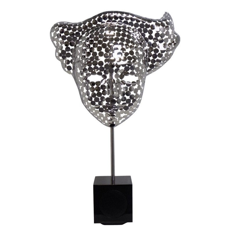 Statue decorative sculpture design pregnant Bluetooth THE MASK in Aluminium (Silver) - image 43037