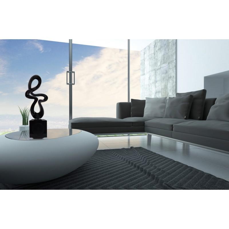 Statue sculpture décorative design enceinte Bluetooth MUSICAL NOTE en résine (Noir) - image 43048