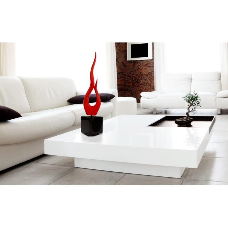 Statua disegno scultura decorativa incinta Bluetooth VIGORUS in resina (rosso) - image 43055