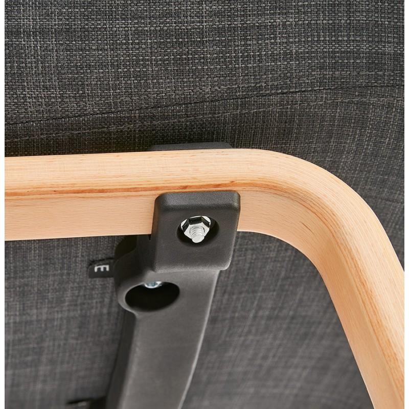 Sedia di design scandinavo con braccioli CALLA in tessuto naturale per piedi (grigio antracite) - image 43116
