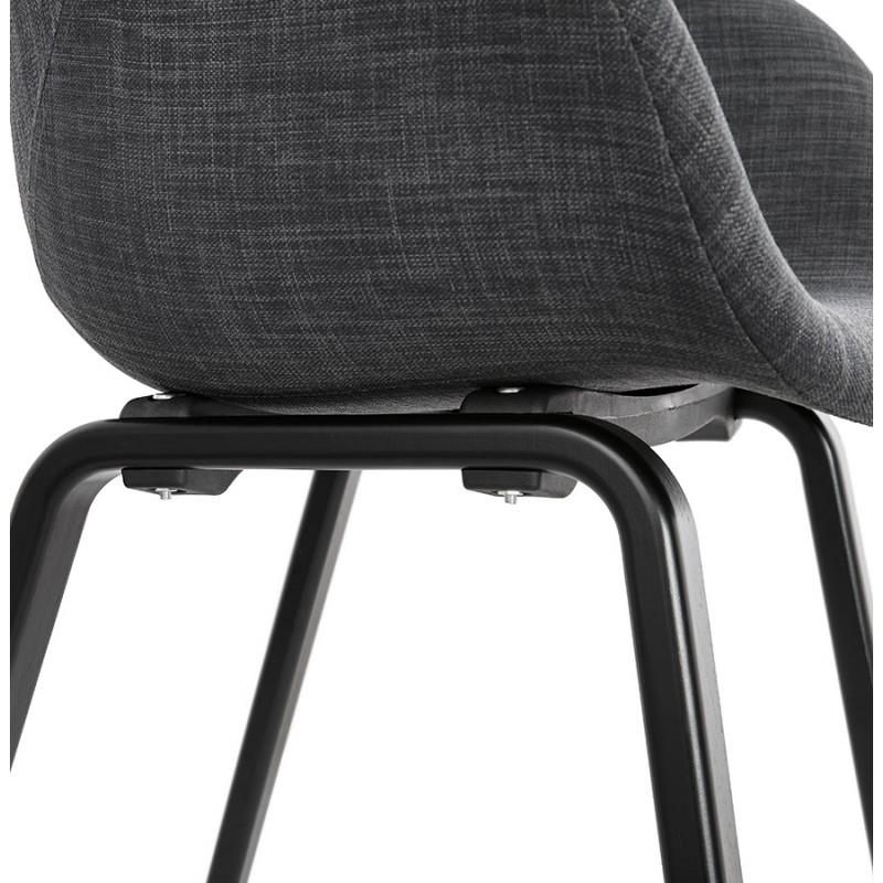 Silla de diseño escandinavo con apoyabrazos CALLA en tejido negro para pies (gris antracita) - image 43130