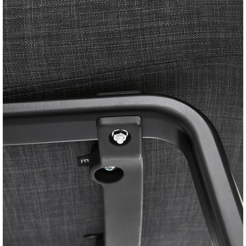 Chaise design scandinave avec accoudoirs CALLA en tissu pieds couleur noire (gris anthracite) - image 43132