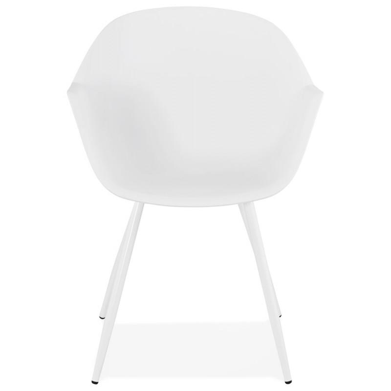 Silla de diseño escandinavo con apoyabrazos de polipropileno COLZA (blanco) - image 43137