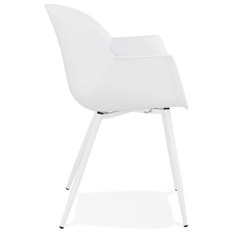 Scandinavian design chair with COLZA polypropylene armrests (white) - image 43138