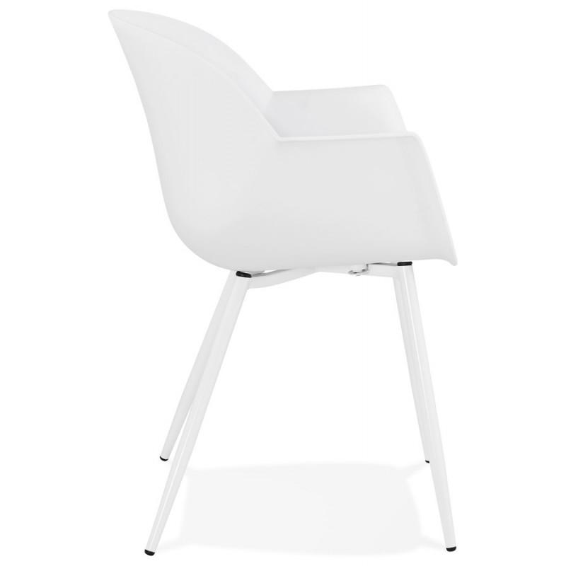 Chaise design scandinave avec accoudoirs COLZA en polypropylène (blanc) - image 43138