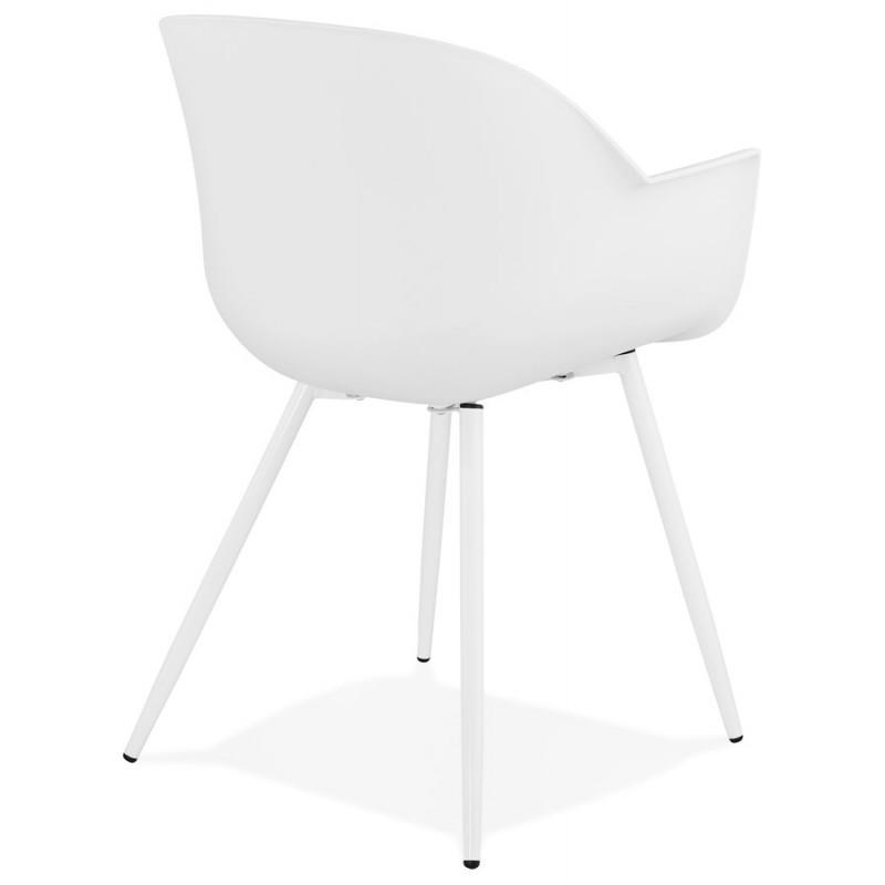 Chaise design scandinave avec accoudoirs COLZA en polypropylène (blanc) - image 43139
