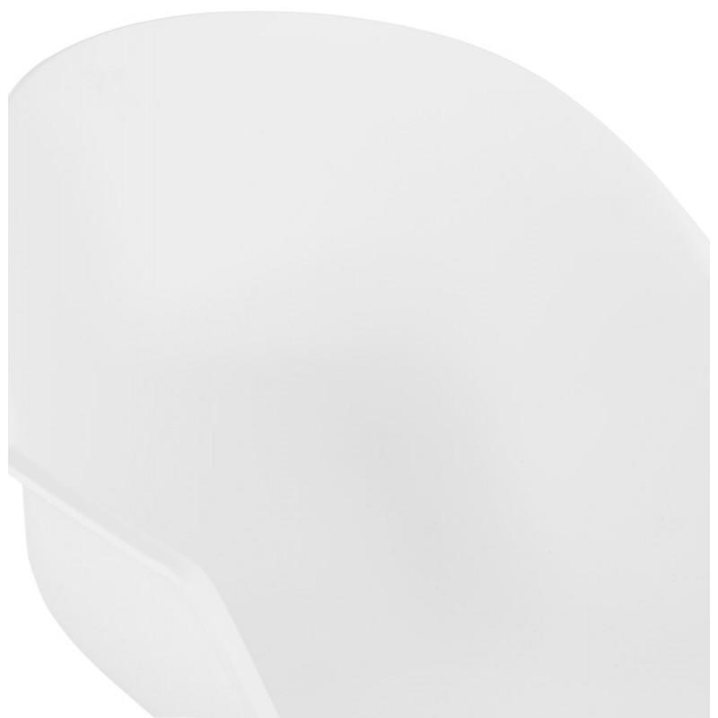 Chaise design scandinave avec accoudoirs COLZA en polypropylène (blanc) - image 43141