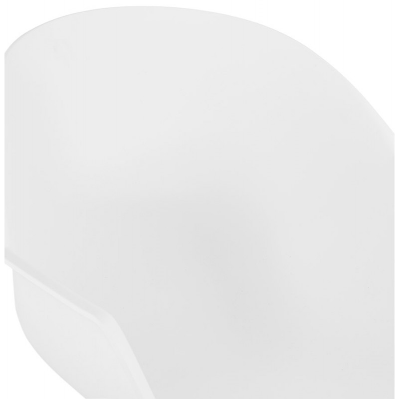 Silla de diseño escandinavo con apoyabrazos de polipropileno COLZA (blanco) - image 43141