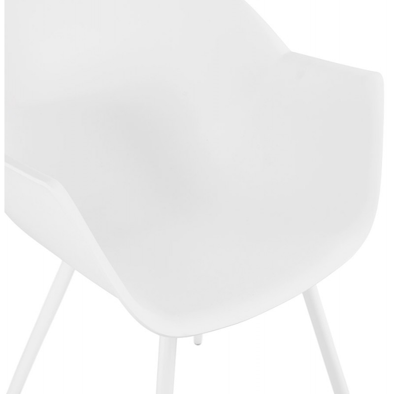 Scandinavian design chair with COLZA polypropylene armrests (white) - image 43142
