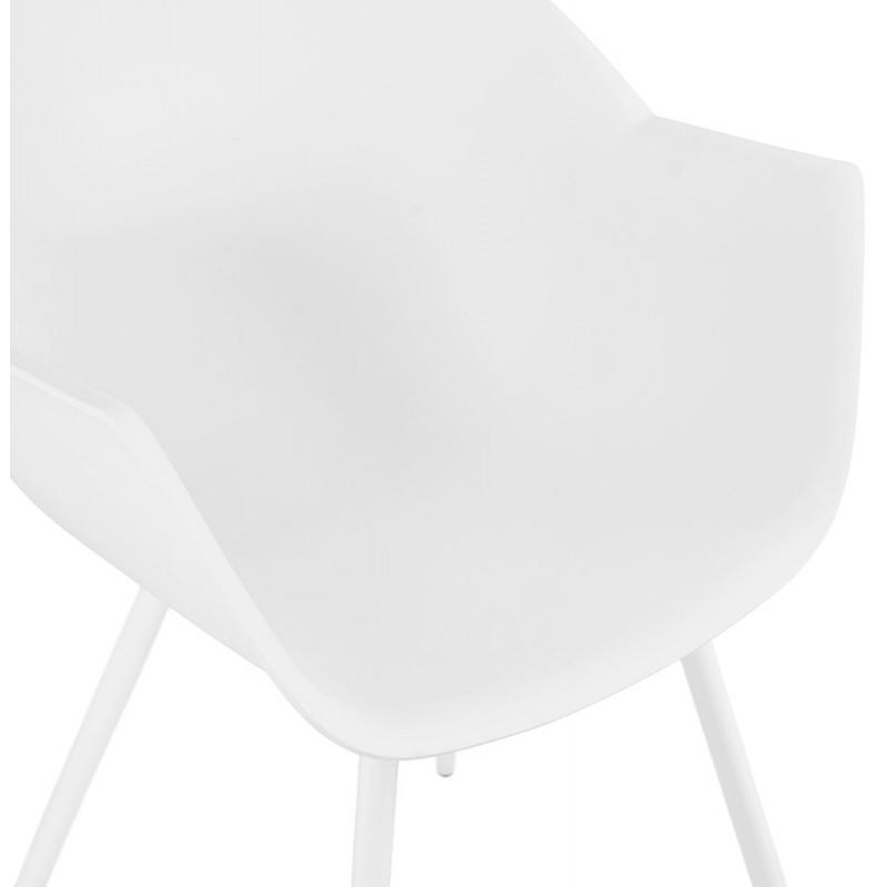 Silla de diseño escandinavo con apoyabrazos de polipropileno COLZA (blanco) - image 43142