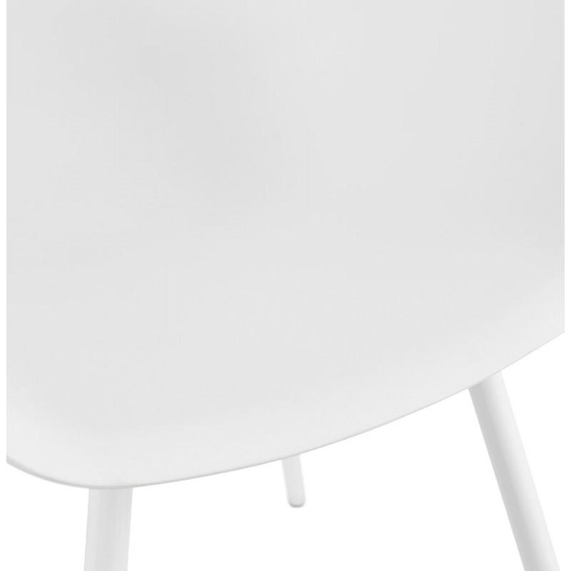 Chaise design scandinave avec accoudoirs COLZA en polypropylène (blanc) - image 43143