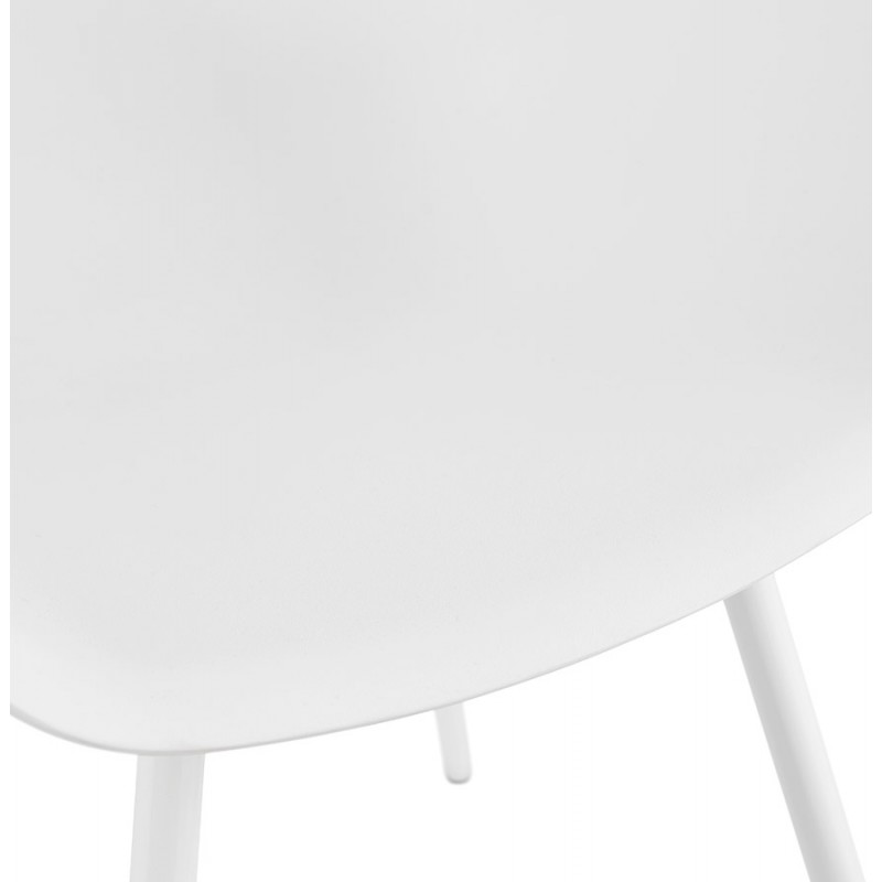 Silla de diseño escandinavo con apoyabrazos de polipropileno COLZA (blanco) - image 43143