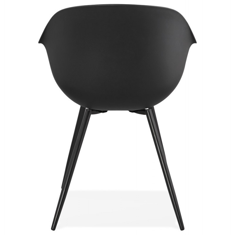 Scandinavian design chair with COLZA armrests in polypropylene (black) - image 43154