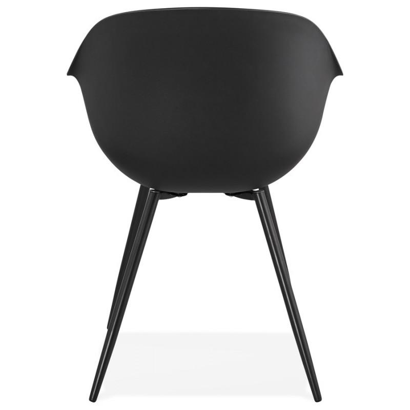 Chaise design scandinave avec accoudoirs COLZA en polypropylène (noir) - image 43154
