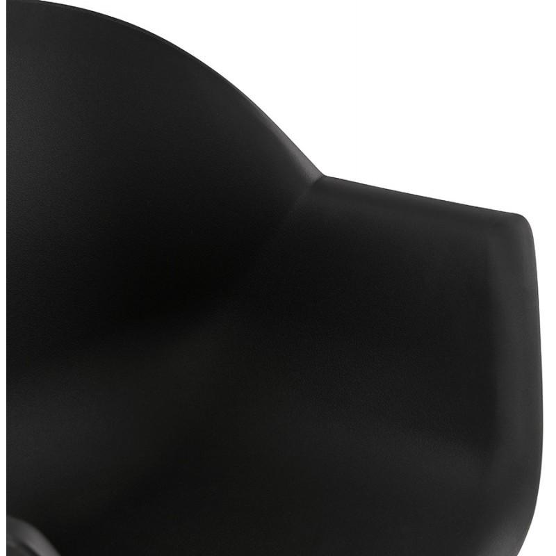 Chaise design scandinave avec accoudoirs COLZA en polypropylène (noir) - image 43157