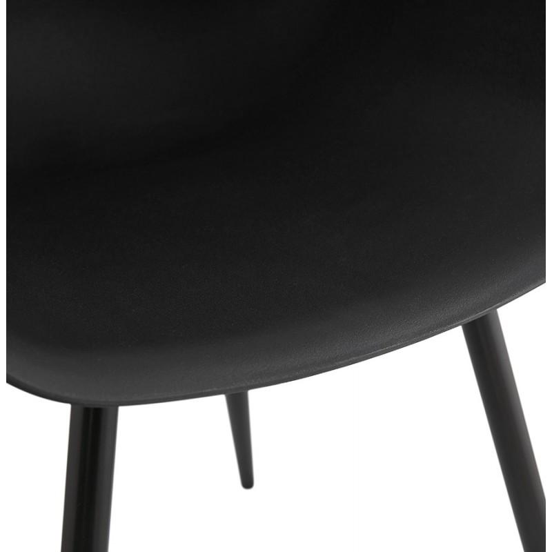 Chaise design scandinave avec accoudoirs COLZA en polypropylène (noir) - image 43158