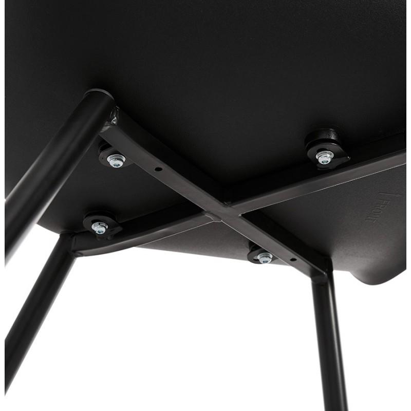 Chaise design scandinave avec accoudoirs COLZA en polypropylène (noir) - image 43159