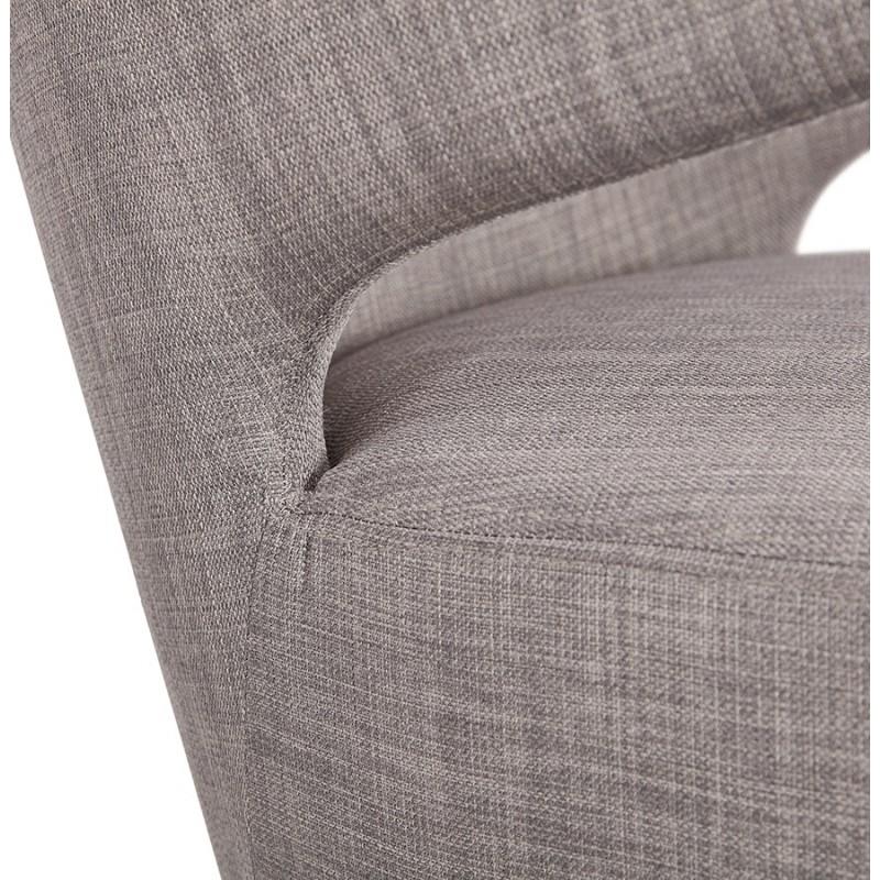 Fauteuil design YASUO en tissu pieds bois couleur noire (gris clair) - image 43171