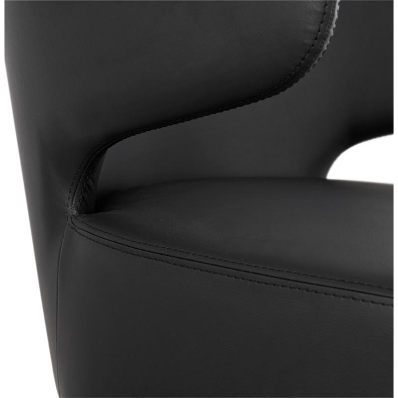 Fauteuil design  YASUO en polyuréthane pieds bois couleur noire (noir) - image 43184