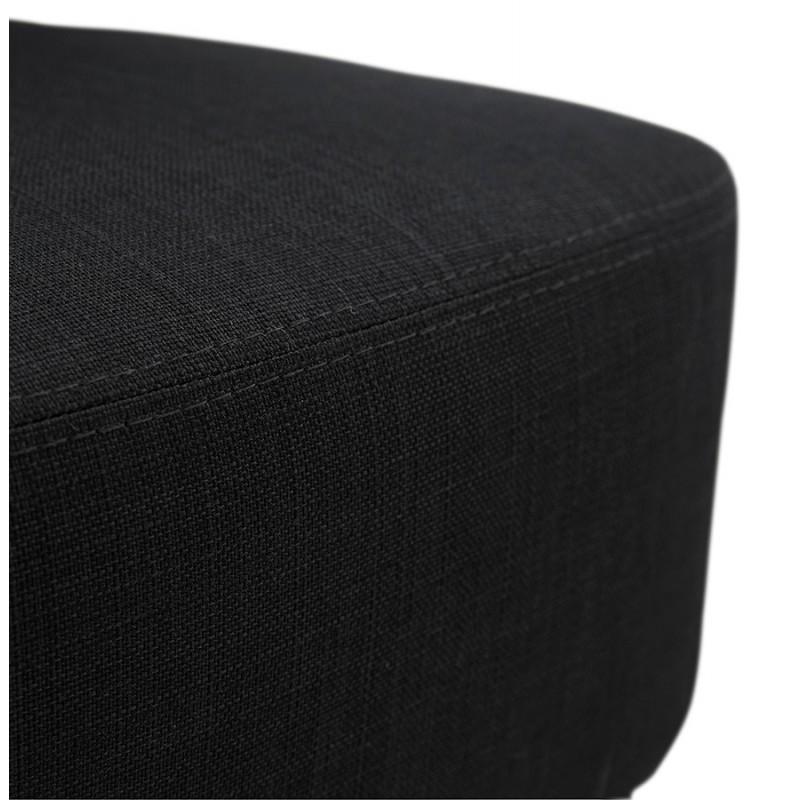 Fauteuil design YASUO en tissu pieds bois couleur naturelle (noir) - image 43194