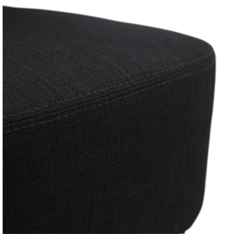 YASUO Designstuhl aus naturfarbenem Holzschuhstoff (schwarz) - image 43194