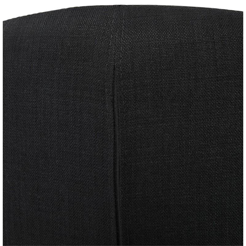 Fauteuil design YASUO en tissu pieds bois couleur naturelle (noir) - image 43197