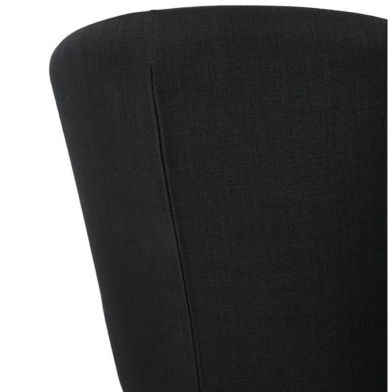 Fauteuil design YASUO en tissu pieds bois couleur naturelle (noir) - image 43198