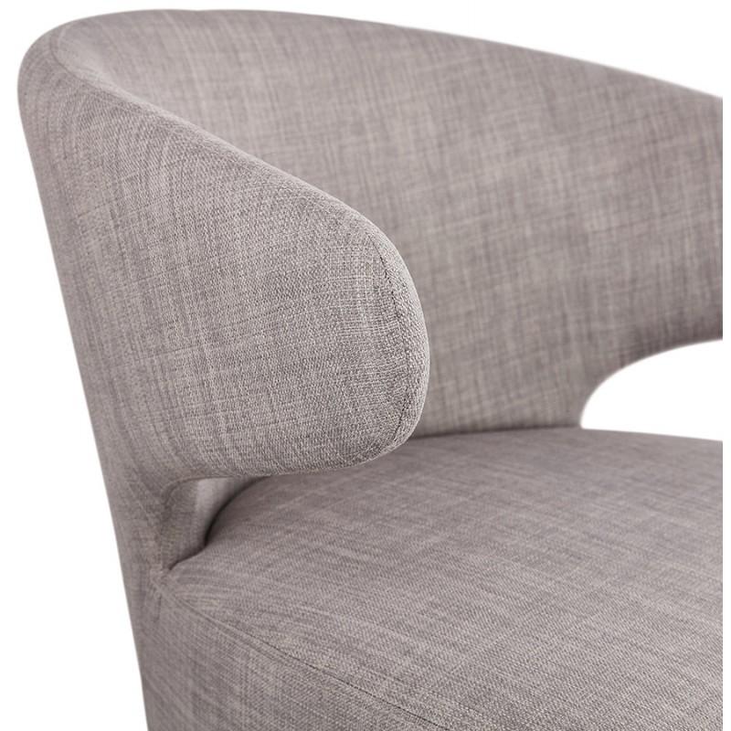 Fauteuil design YASUO en tissu pieds bois couleur naturelle (gris clair) - image 43206
