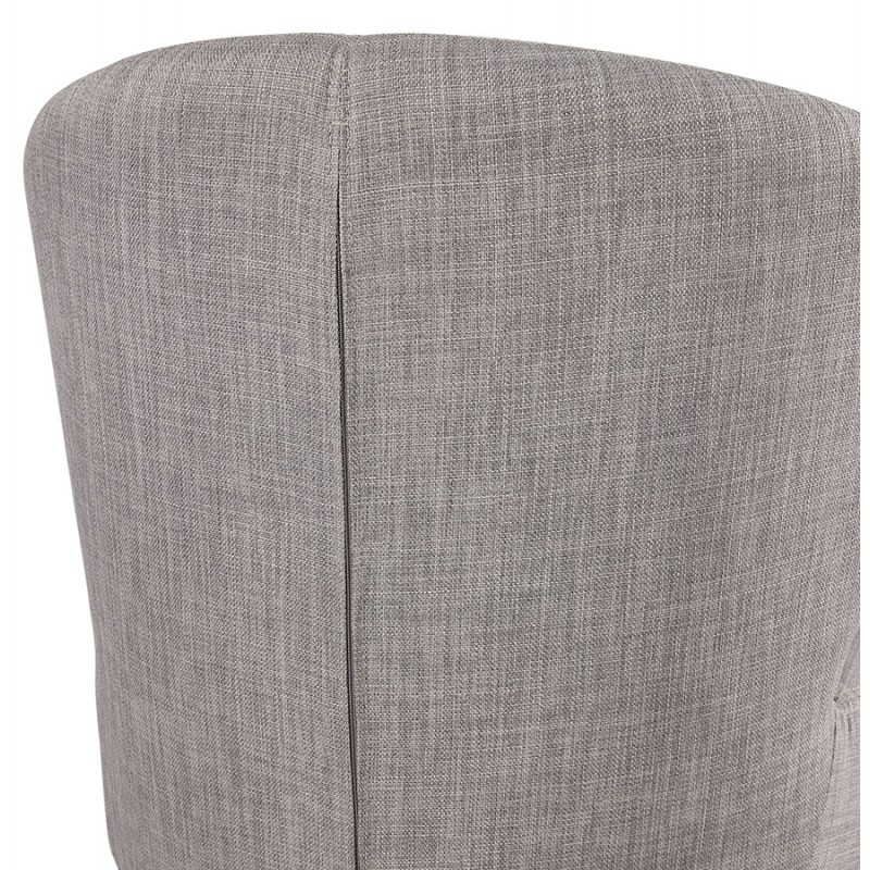 YASUO design chair in natural-coloured wooden foot fabric (light grey) - image 43209
