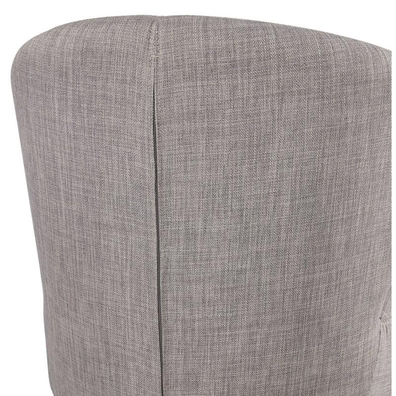 Fauteuil design YASUO en tissu pieds bois couleur naturelle (gris clair) - image 43209