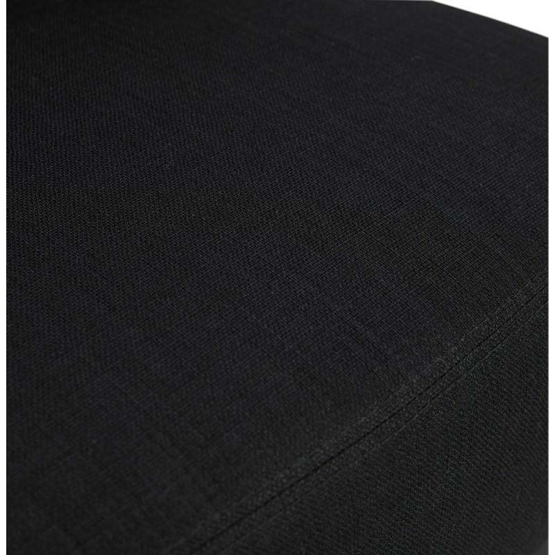Silla de diseño YASUO en tejido de pie de metal negro (negro) - image 43231