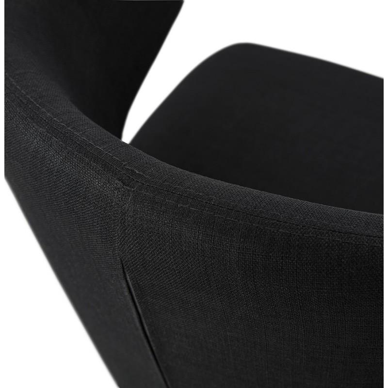 YASUO Designstuhl aus schwarzem Metallfußgewebe (schwarz) - image 43232