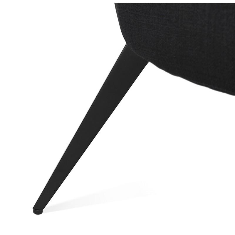 Silla de diseño YASUO en tejido de pie de metal negro (negro) - image 43234