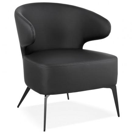 Silla de diseño YASUO en patas de poliuretano metal negro (negro)
