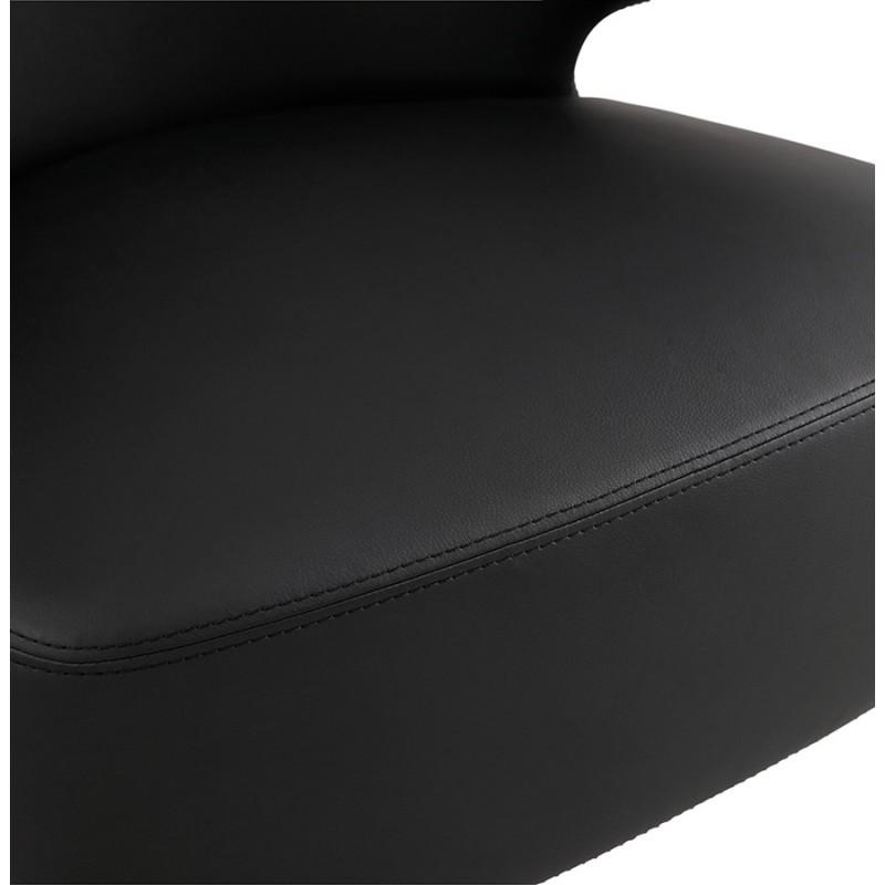 Fauteuil design YASUO en polyuréthane pieds métal couleur noire (noir) - image 43254