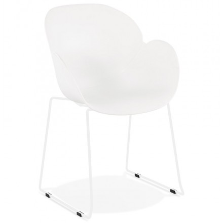 CIRSE design chair in polypropylene white metal feet (white)