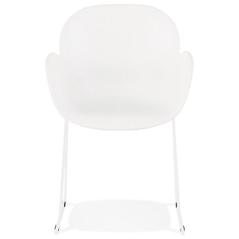 Chaise design CIRSE en polypropylène pieds métal couleur blanche (blanc) - image 43261