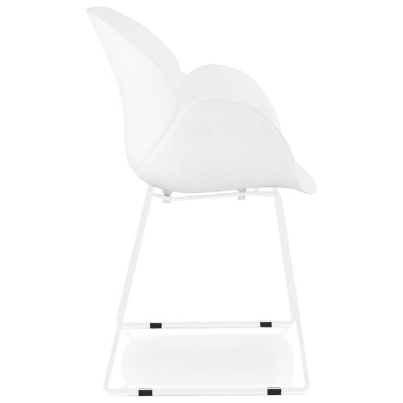 Chaise design CIRSE en polypropylène pieds métal couleur blanche (blanc) - image 43262
