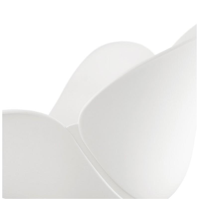 Chaise design CIRSE en polypropylène pieds métal couleur blanche (blanc) - image 43268