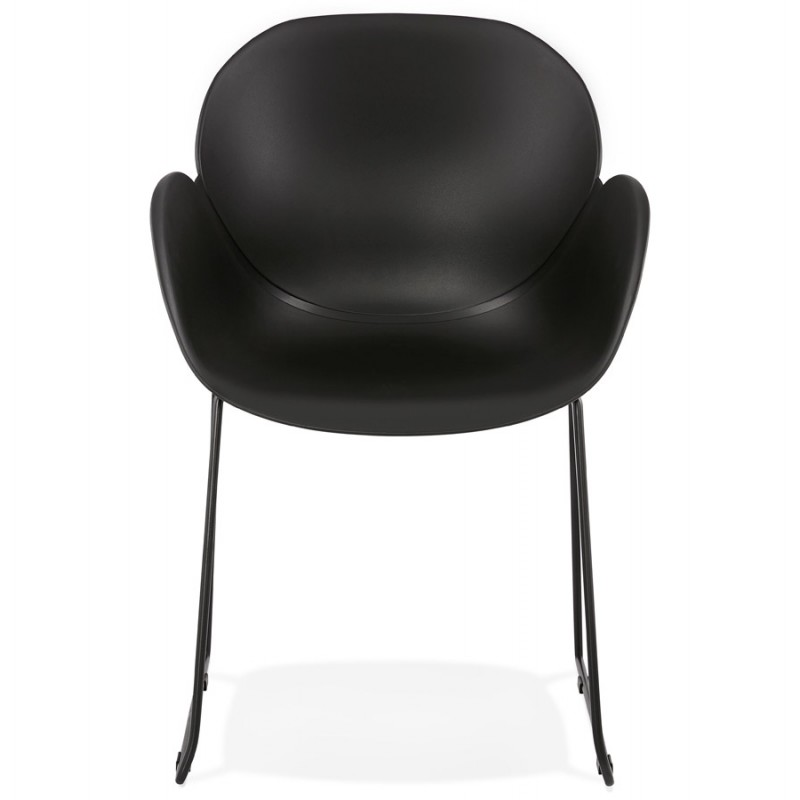 CIRSE design chair in polypropylene black metal feet (black) - image 43272