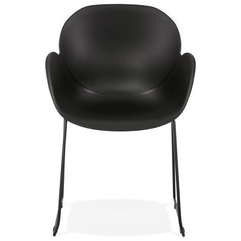 Chaise design CIRSE en polypropylène pieds métal couleur noire (noir) - image 43272