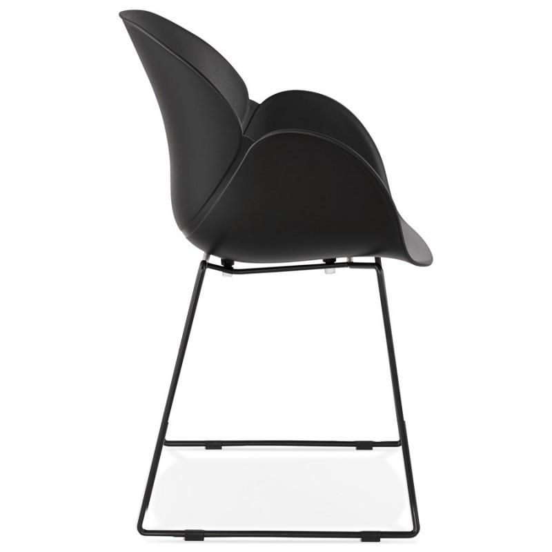 Chaise design CIRSE en polypropylène pieds métal couleur noire (noir) - image 43273