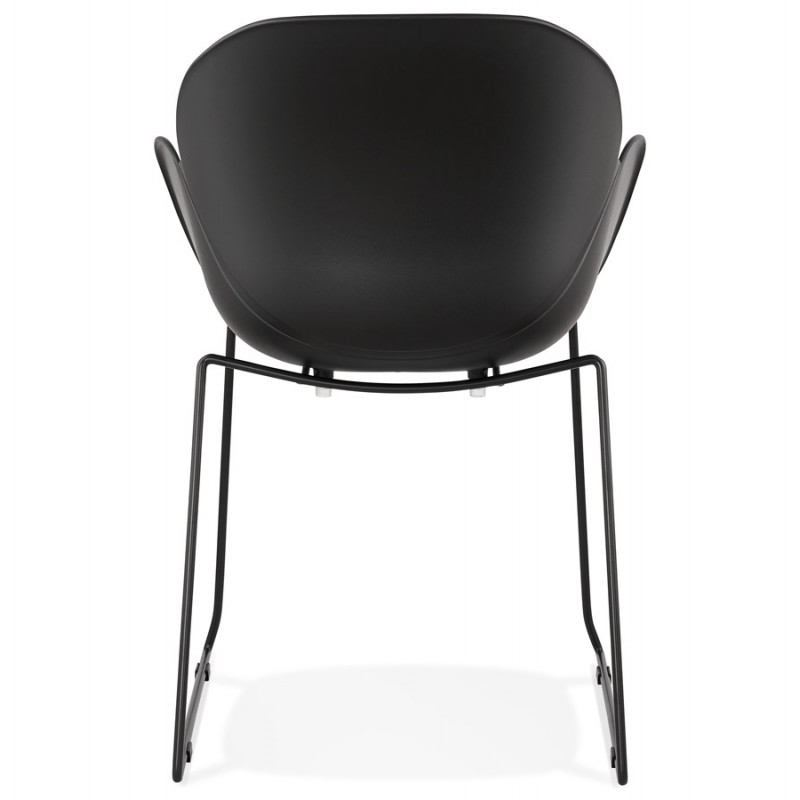 CIRSE design chair in polypropylene black metal feet (black) - image 43275