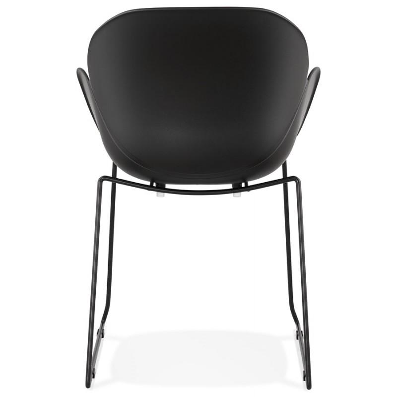 Chaise design CIRSE en polypropylène pieds métal couleur noire (noir) - image 43275